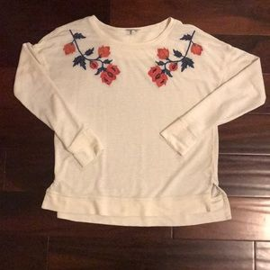 Lucky brand floral sweater top